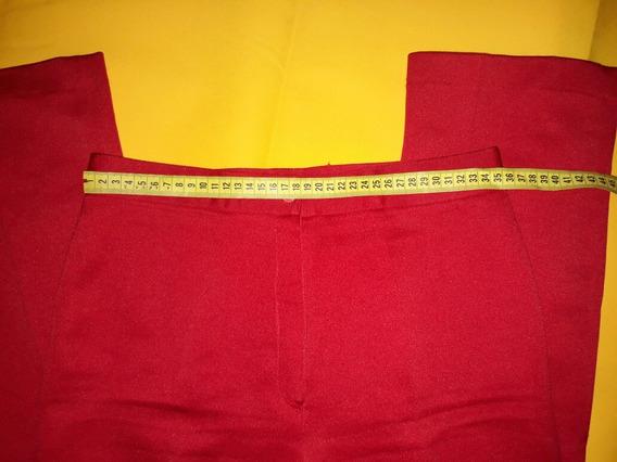 Pantalon Rojo De Vestir Dama Talla 28