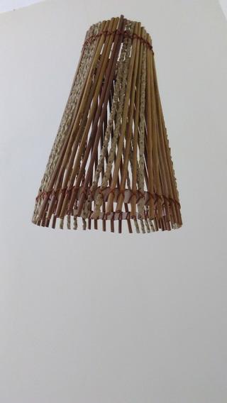 Lustre Cone Luminárias Artesanais De Açai
