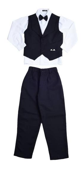 Conjunto Social Infantil Juvenil Colete Terno Camisa Gravata
