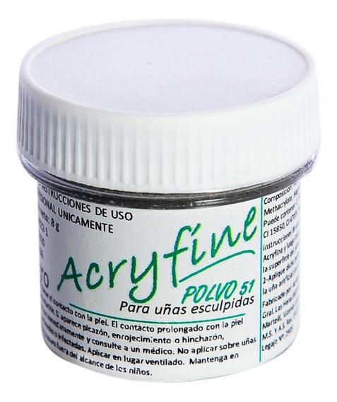 Acryfine Polimero Construcción Uñas Esculpidas Negro 8gr