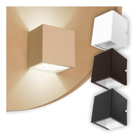 Arandela Luminária Frisada Efeito Parede Dois Fachos Box