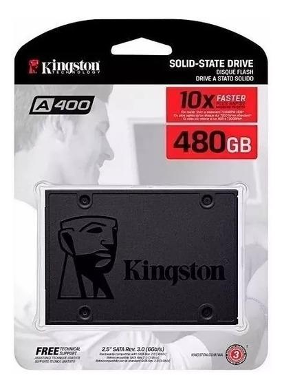 Ssd 480gb Kingston A400 Sata 3 6gb/s Novo Lacrado