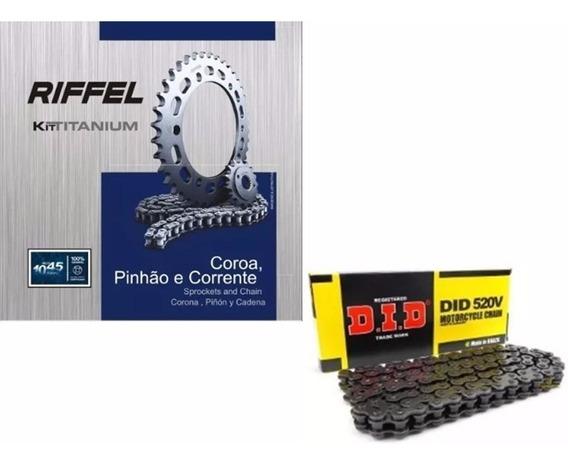 Kit Relacão Transmissão Mt03 E R3 Riffel E Did Com Retentor