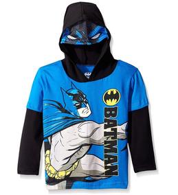 Polera De Batman Con Capucha Hoodie Niño Talla 3t Nuevo