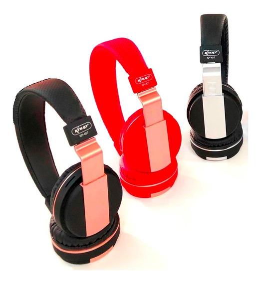 Kit 5 Headfone Bluetooth Com Microfone Rádio Fm E Entrada Sd
