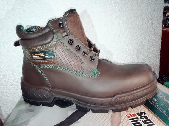Zapato Comando 727d Ideal Para El Trabajo Color Café