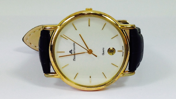 Reloj Maurice Lacroix Con Bisel En Chapa De Oro (ref 1662)