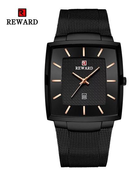 Relógio Masculino Preto Quadrado Com Caixa Original