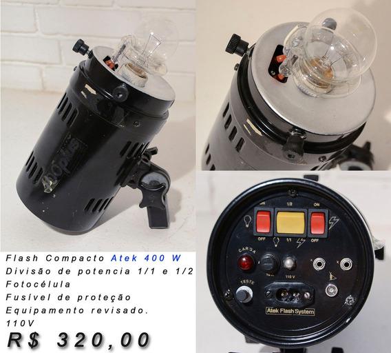 Flash Compacto Atek 400w - Revisado