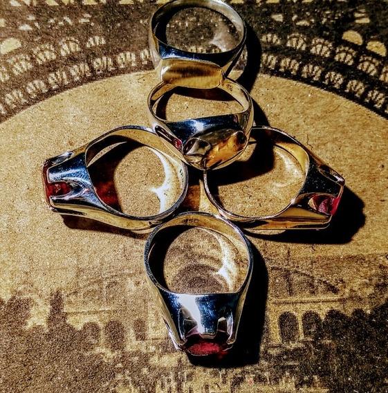 Anéis Em Prata 950 E Ouro 10