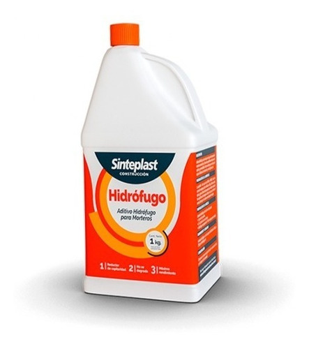 Hidrofugo Sinteplast | Aditivo Hidrofugo Para Morteros | 1kg