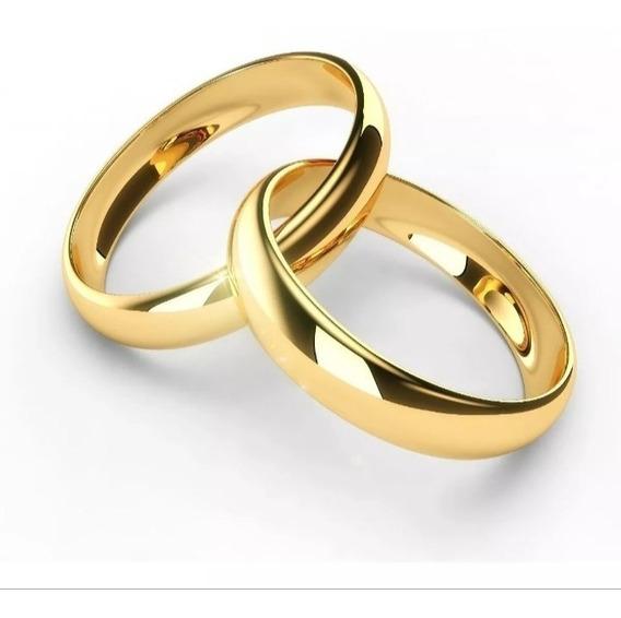 Par De Aliança Folheado A Ouro