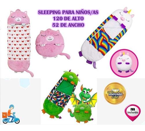 Imagen 1 de 9 de Sleeping Para Niños Tipo Peluche Almohada 132cm 52cm Inc Iva