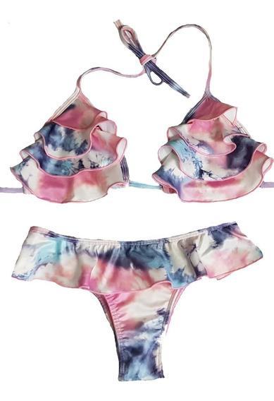 Biquíni Tie Dye Mila Moda Praia Luxo Verão 2020