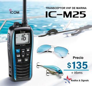 Ic-m25 Radio Portatil Marino