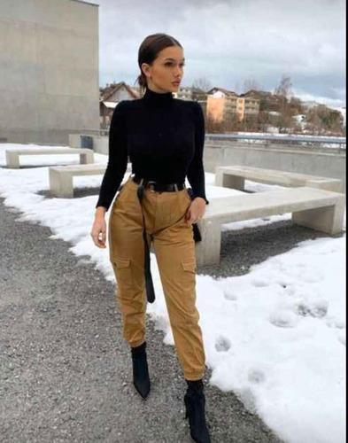 Pantalón Cargo Para Dama Negro , Verde , Beige | Mercado Libre
