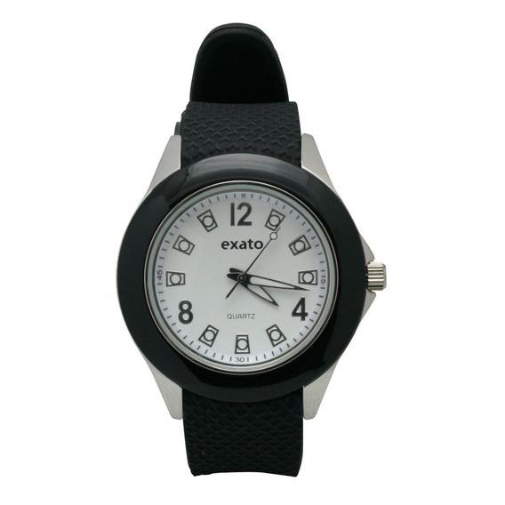 Relógio Pulso Masculino Pulseira Emborrachada Exato 6141b