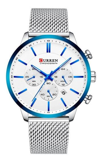 Reloj Curren Caballero Análogo Fechador Cronometro Wake Plat