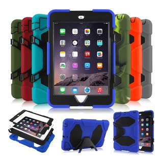Funda Tipo Survivor iPad 2 3 4 Mini 4 Air 2 A1822 Colores
