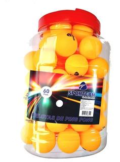 Pelotas Ping Pong Bote Con 60 Pzs Surtido 4cm