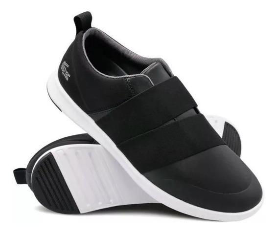 Zapatillas Lacoste Avenir Slip Negro 312 Mujer Original