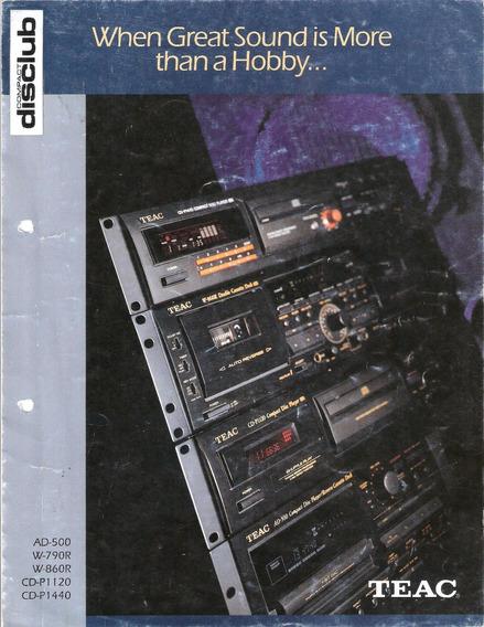 Catalogo Teac Audio Hi-fi 1998 Usa 32 Pag Ing-esp-fra (pdf)
