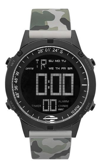Relógio Masculino Digital Preto E Camuflado Mormaii+brinde