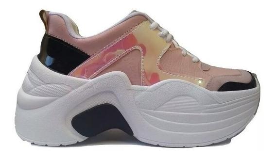 Zapatillas Sneakers Balenciagas Con Plataforma Mujer