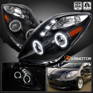 Opticos Led 2006-2008 Toyota Yaris Reemplazo Angel Eyes