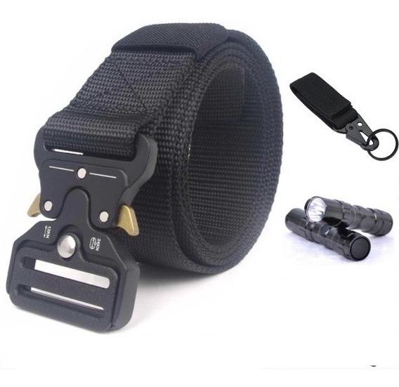 Cinturón Táctico Hebilla Metal Tipo Asalto Militar + Regalos