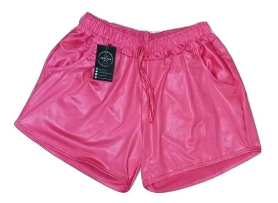 Shorts Boxer Metalizado Cirre Brilho Hot Pants Promo De Fds!