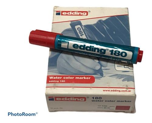 Edding 180 Rojo Al Agua