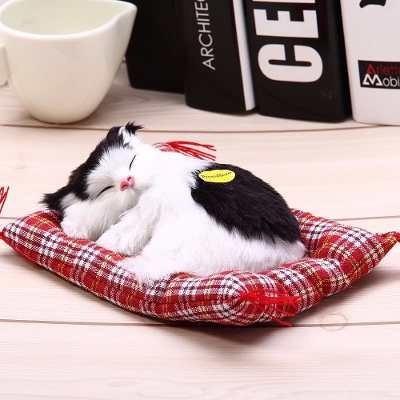 Mini Petz Filhote Pelúcia Gatinho Lindo 14cm Branco/preto