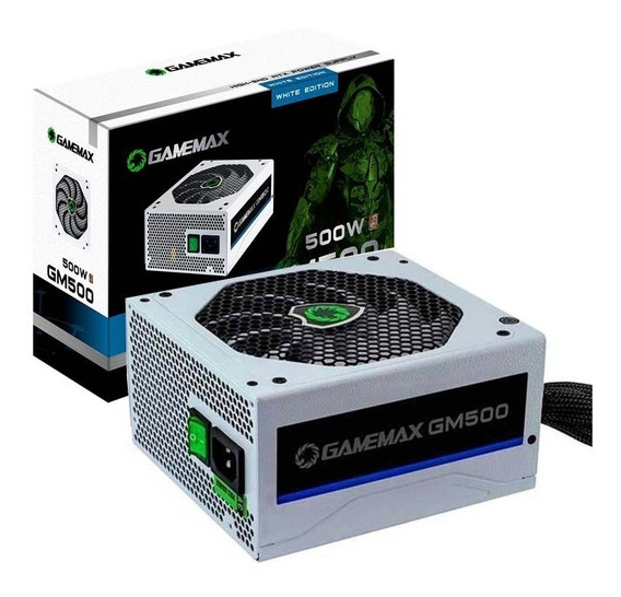 Fonte 500w Gamemax Gm500 80 Plus Bronze White