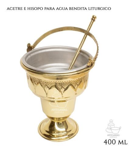 Acetre E Hisopo Para Agua Bendita Religioso A802 Chico