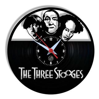 Relógio De Parede Vinil - Os Tres Patetas Séries Tv Clássico