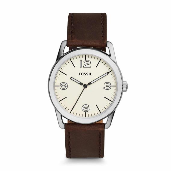 Reloj De Hombre Fossil Piel Café Bq2303 Classic
