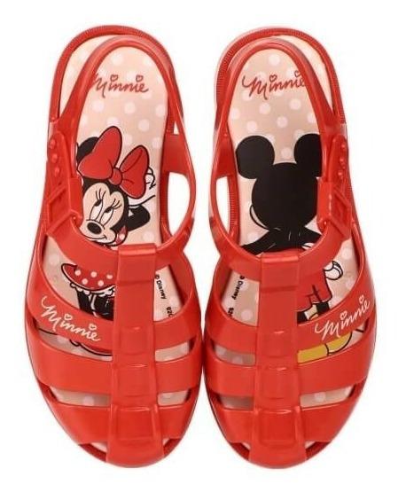 Sandália Infantil Meninas Minnie Classica Feminina Vermelha
