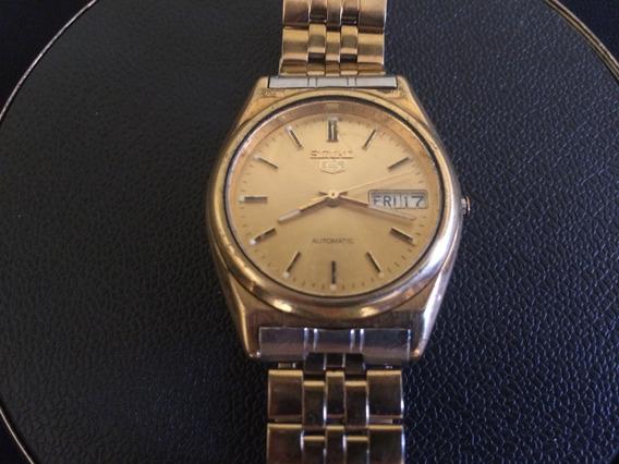 Relógio De Pulso Masculino Seiko 5 Automatico