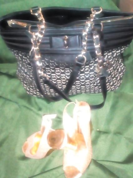 Combo Cartera Dama Mk +zapatos