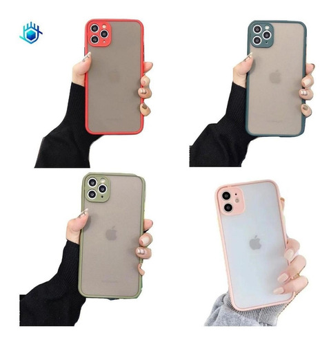 Funda iPhone Frost Protector Camara Case Rigido Hombre Mujer
