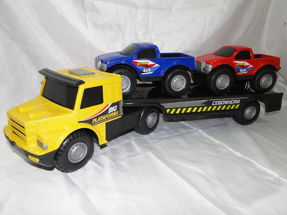 Caminhão Brinquedo Scania T113 Cegonha Pickup Carreta Bitrem
