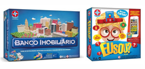 Brinquedo Menina Jogo Eu Sou...? + Banco Imobiliário Estrela