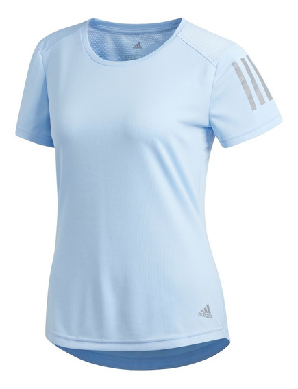 Remera adidas Own The Run Celeste De Mujer