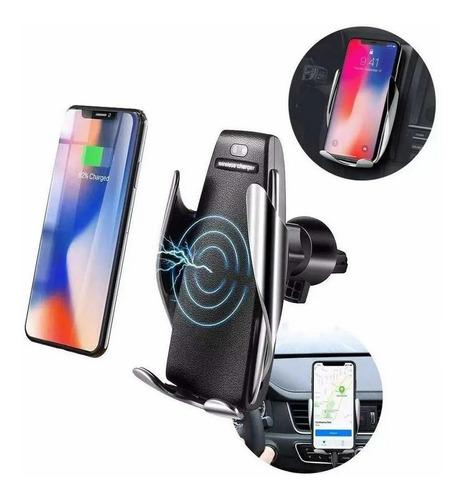 Imagem 1 de 5 de Carregador Veicular Indução Qi Sem Fio Suporte Samsung S9 S8