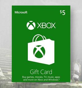 Cartão Xbox Gift Card $5 Dolares Us Cartao Presente Pre-pago