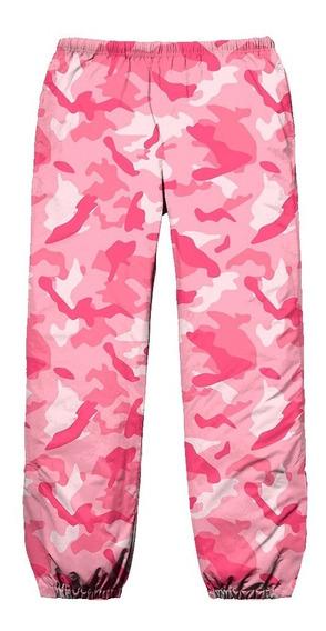 Calça Tactel Lil Peep Camuflada Pink Swag Hip Hop Rapper Eua