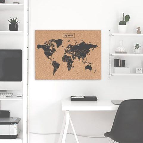 Mapamundi Planisferio  Corcho Mapa De Viajes 90x60 Cm