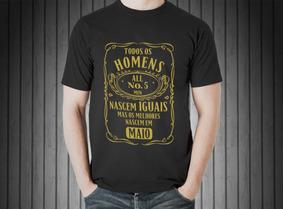 Camisa Blusa Masculina Melhores Homens Maio Dourado Prata