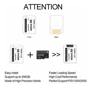 Adaptador De Memoria Micro Sd Sd2vita Para Psvita Con Envío